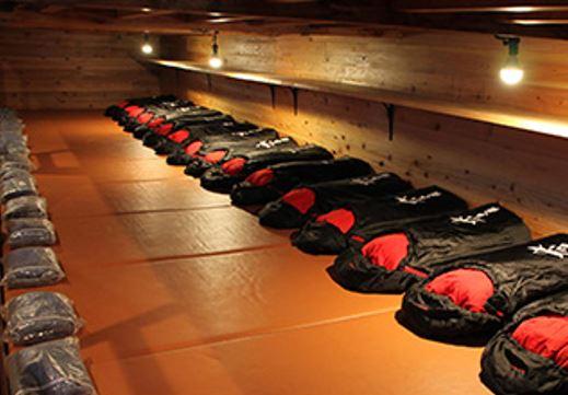 画像: 富士山・太子館の客室(寝袋)