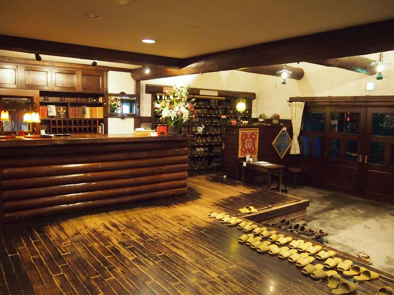 画像: 奥上高地・徳澤園の玄関