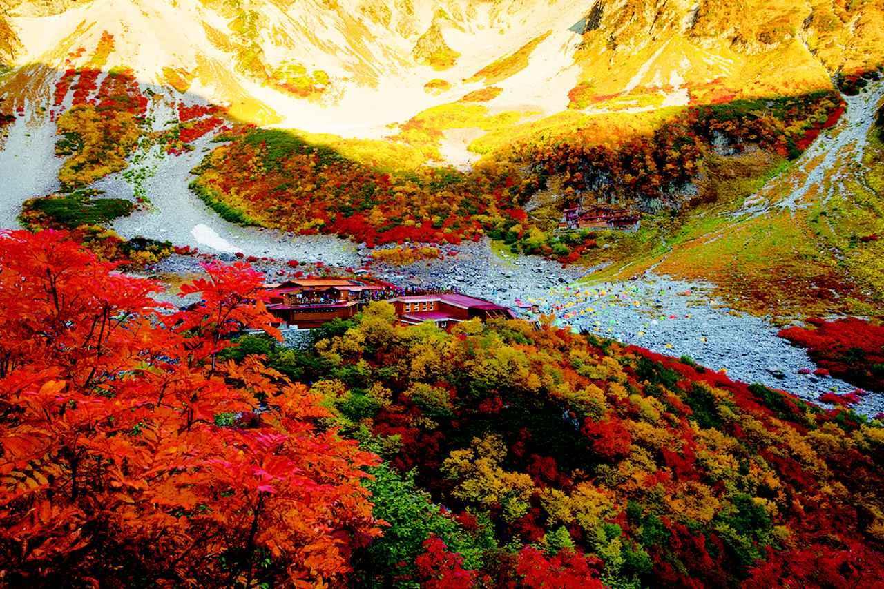 画像: 涸沢カールの紅葉(イメージ)