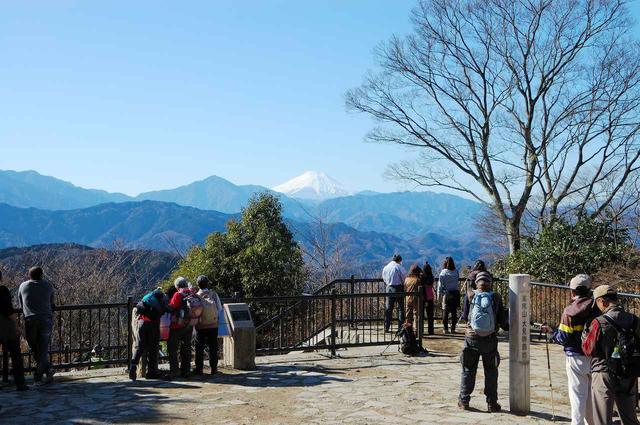 画像: 高尾山山頂からの眺望(冬)(イメージ)