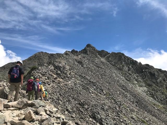 画像: 奥穂高岳登山道中
