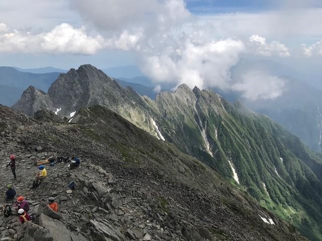 画像: 奥穂高岳山頂からの眺望