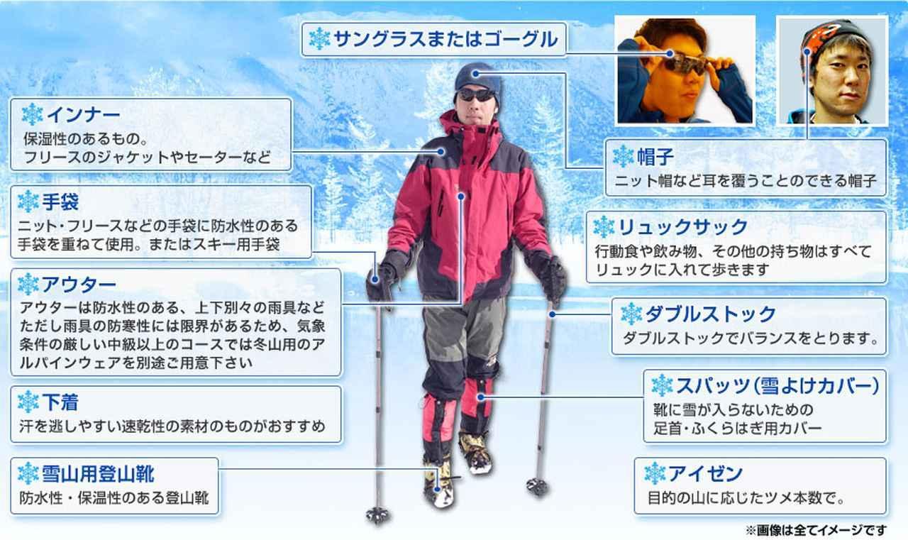画像: 雪山登山の装備