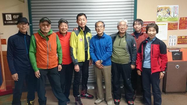 画像: 雪山研修に参加した当社登山講師たち