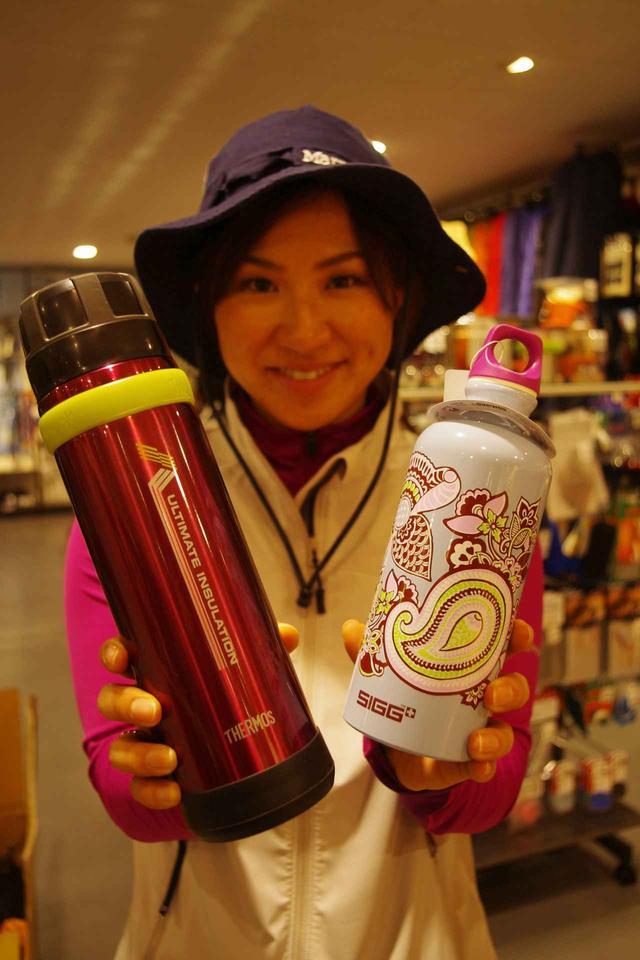 画像: 写真左が魔法瓶タイプの水筒