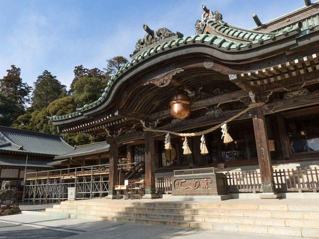 画像: 下山後には筑波山神社へ初詣もいたします!