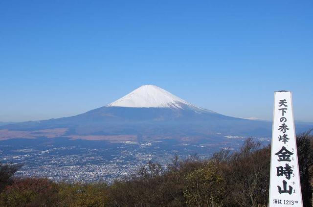 画像: 金時山からの富士山