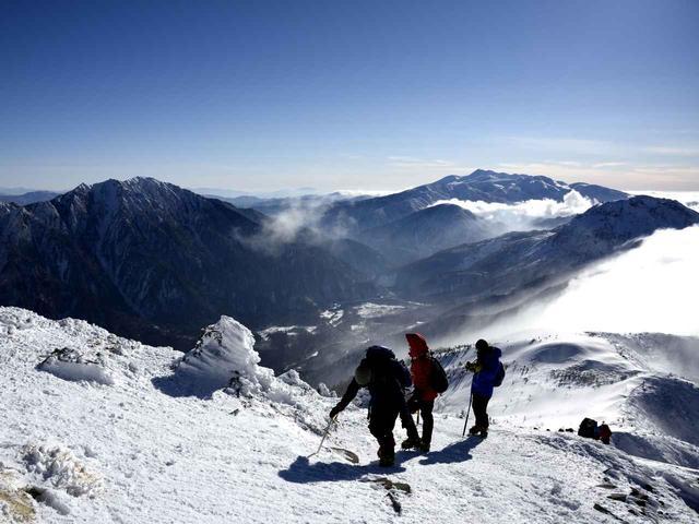 画像: 西穂丸山からの冬の上高地