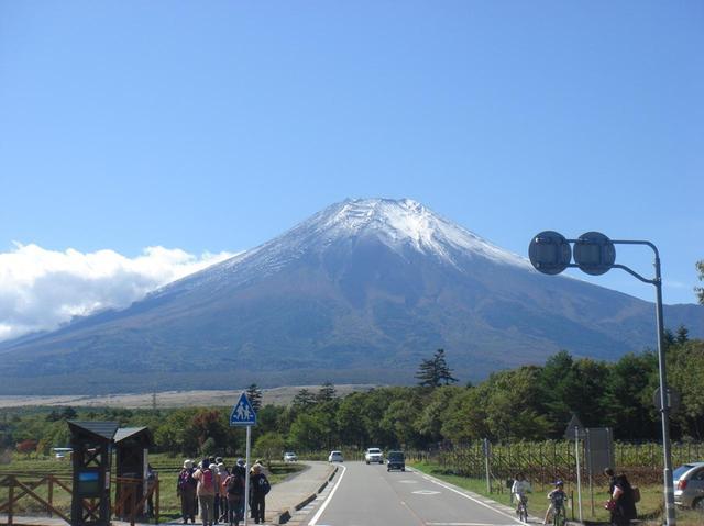 画像: 花の都公園から眺める富士山