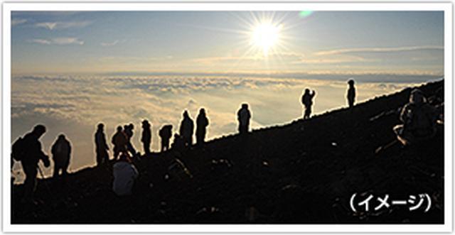 画像: 富士山に登り隊
