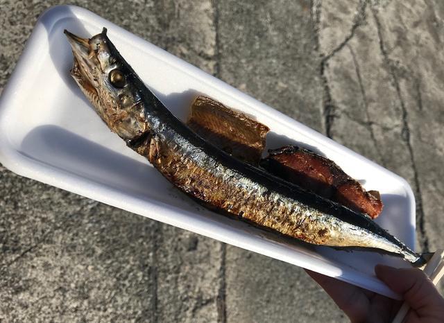 画像: お振る舞いの焼き魚は炭火焼ならではの香ばしさで絶品でした。
