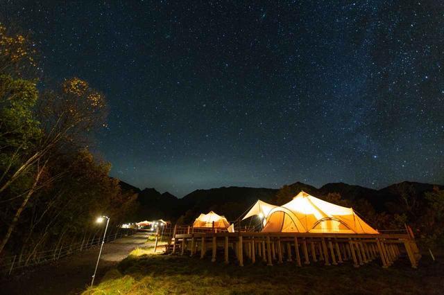 画像: 星空観賞(イメージ/※星空は天候状況により見られない場合があります)