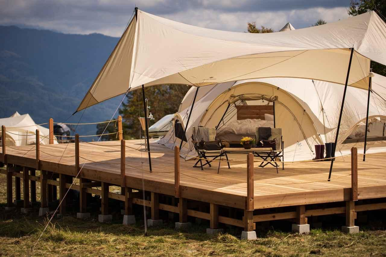 画像: 宿泊施設のテント(イメージ)