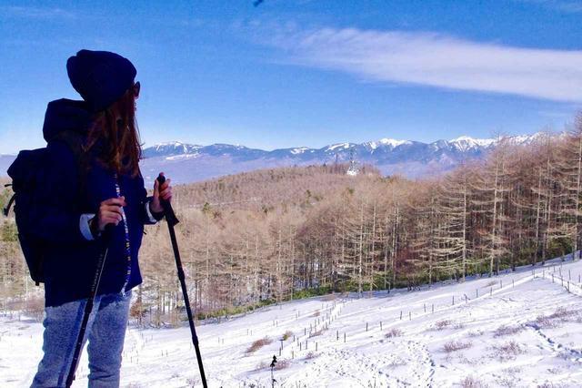 画像: 八ヶ岳を眺めながら