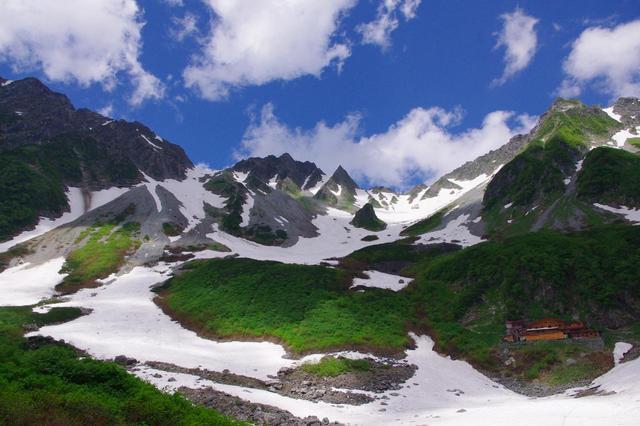 画像: 涸沢ヒュッテからの穂高連峰