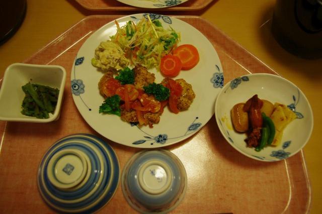 画像: 横尾山荘の夕食(一例)