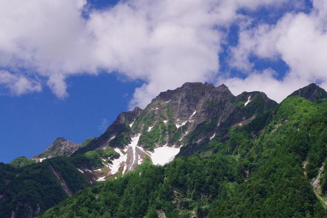 画像: 横尾からの前穂高岳