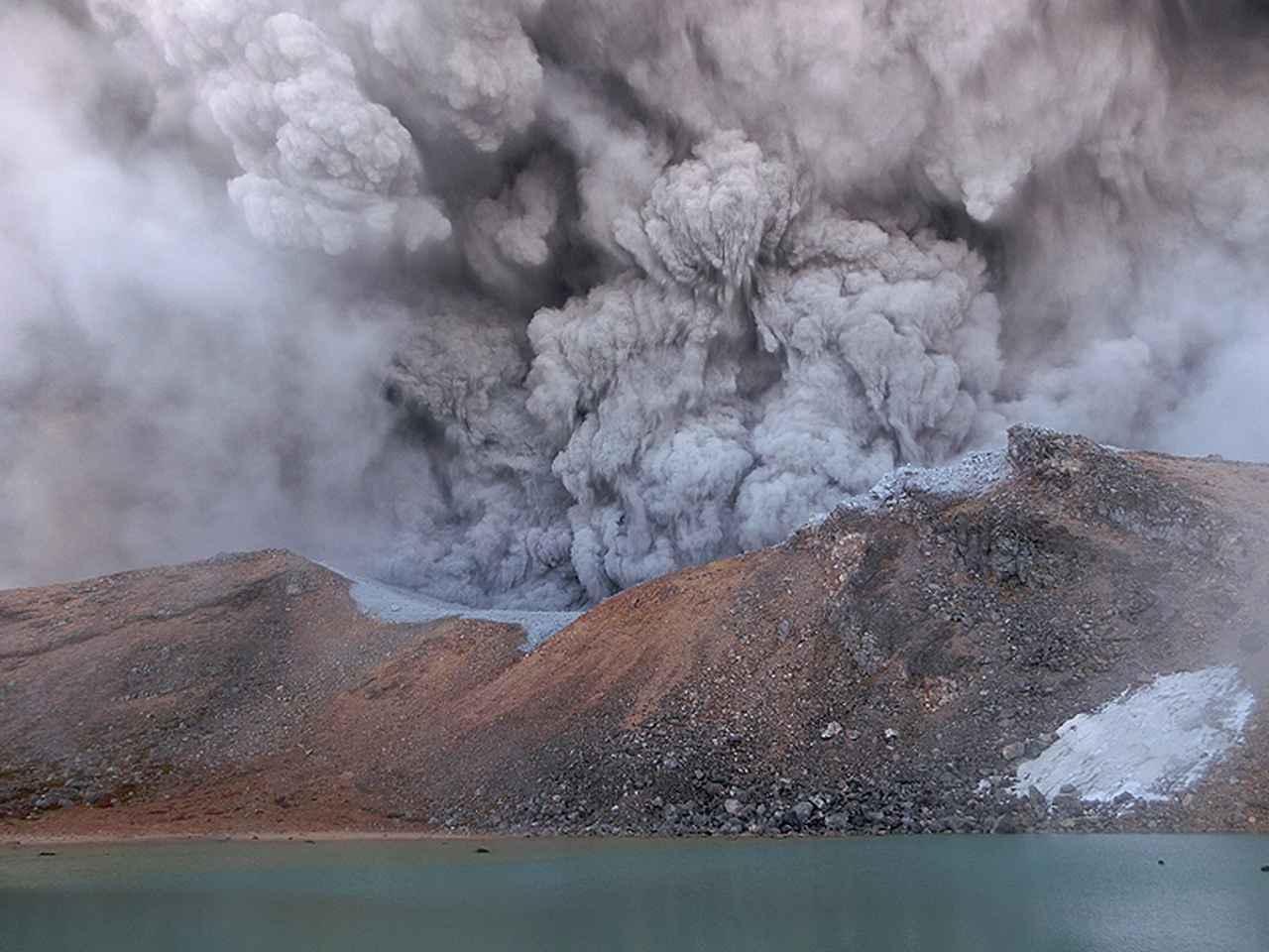 画像1: 御嶽山噴火当時の写真