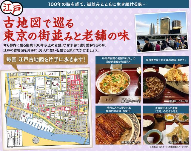 画像: 江戸古地図で巡る 東京の街並みと老舗の味ツアー・旅行|クラブツーリズム