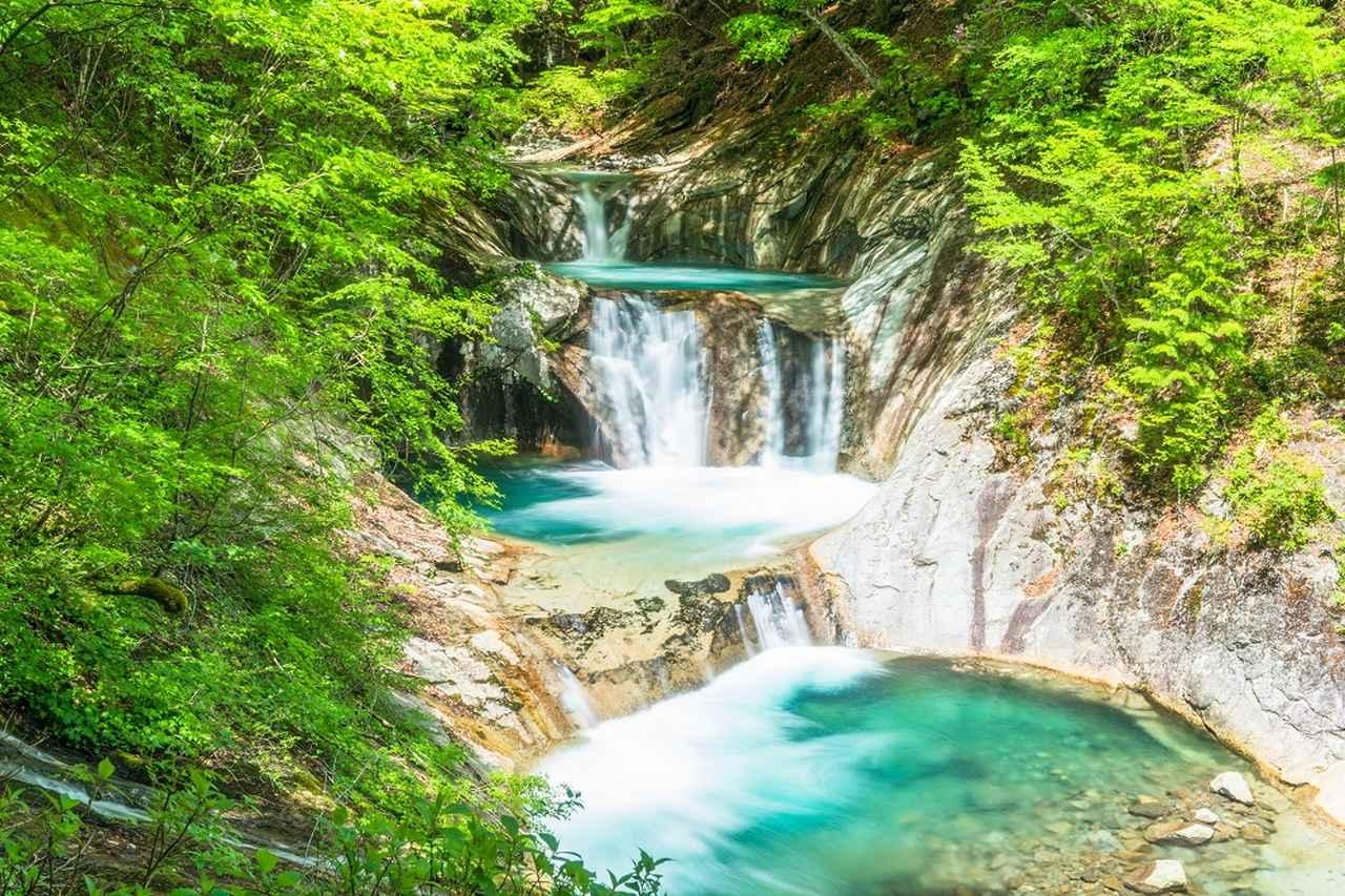 画像: 七ツ釜五段の滝(イメージ)
