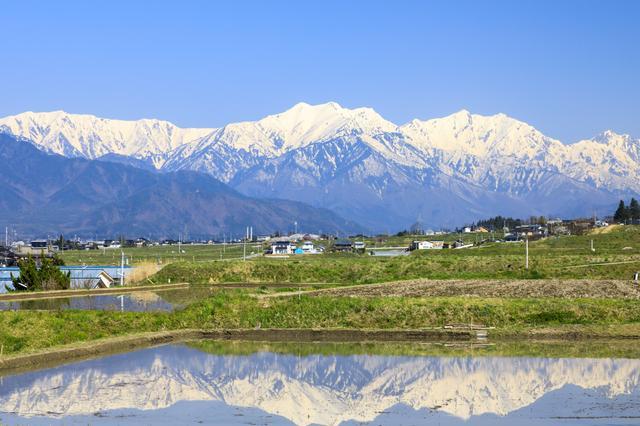 画像: 春の安曇野風景(イメージ)