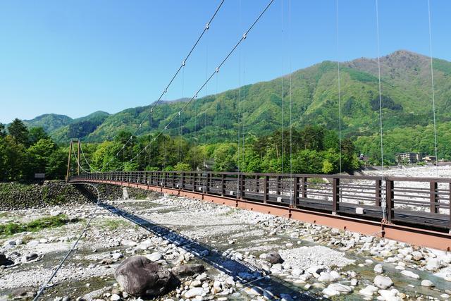 画像: 長さ146メートルの吊橋・こまくさ橋(イメージ)
