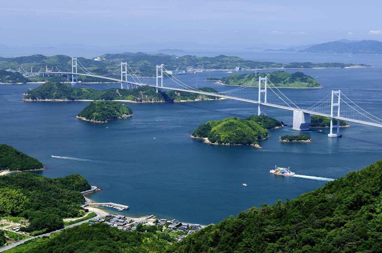 画像: サイクリングの最後に渡る来島海峡大橋