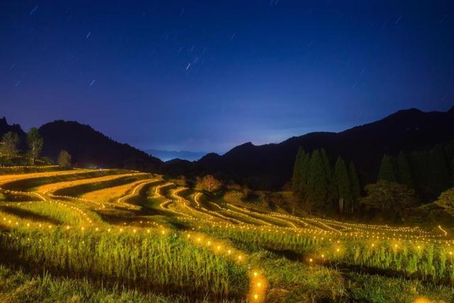 画像: <ハイク初級>『大山千枚田のライトアップと新米祭り 三舟山ハイキング』 クラブツーリズム