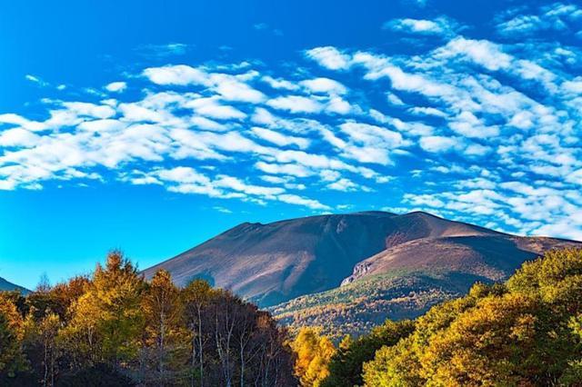 画像: <ハイク初級>『大パノラマが広がる高原風景を行く 紅葉の浅間山・白糸の滝ハイキング』