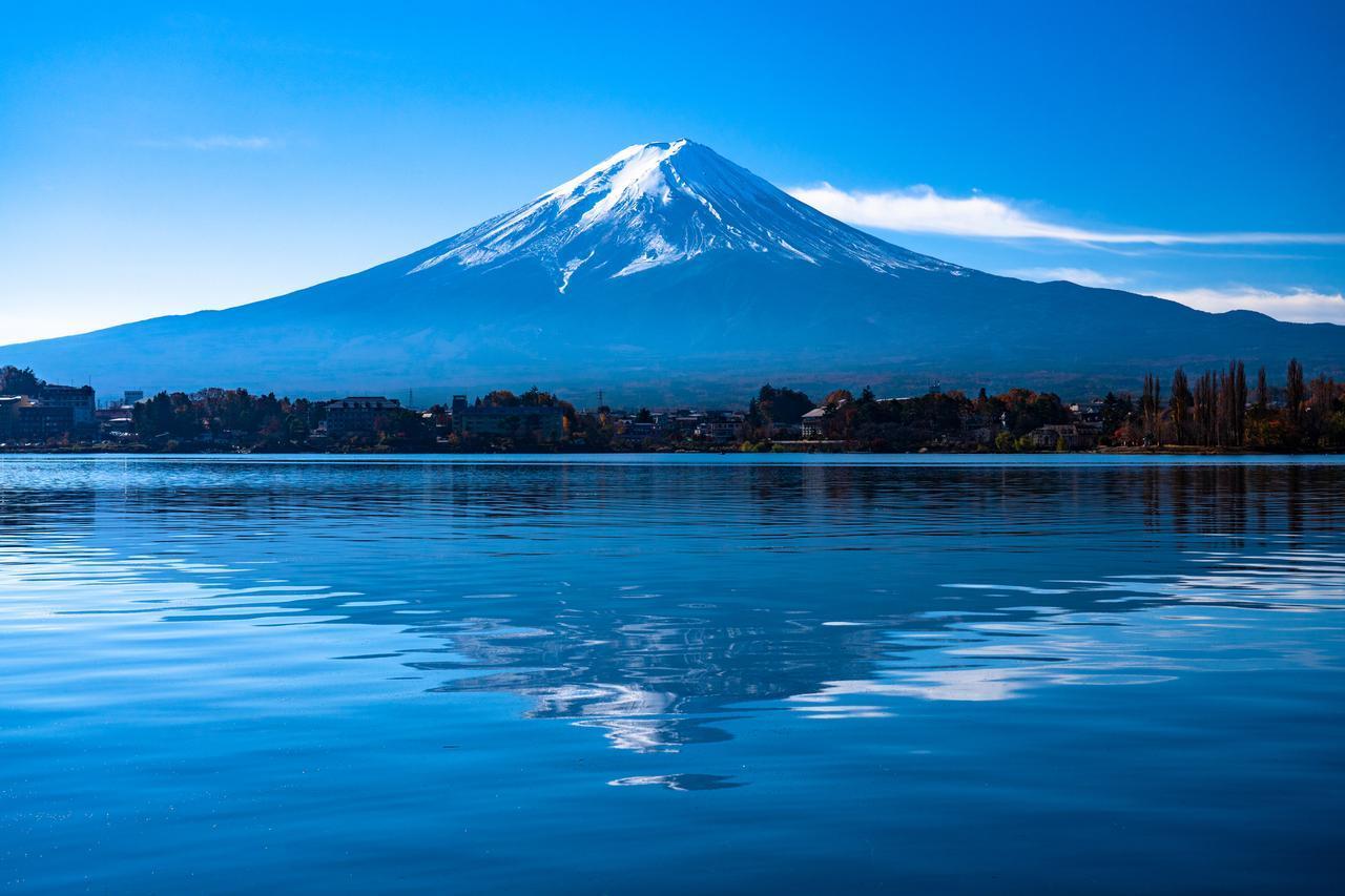 画像: 富士山と河口湖