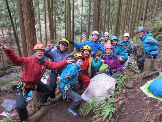 画像: 小川ガイドと山旅スクール生の皆様