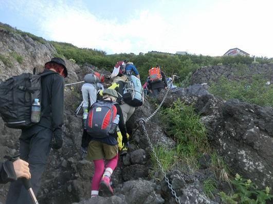 画像: 富士山のゴツゴツした登り道