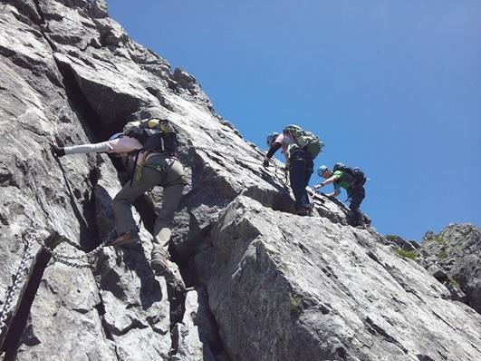 画像: 上級者向けの剱岳の岩場・鎖場