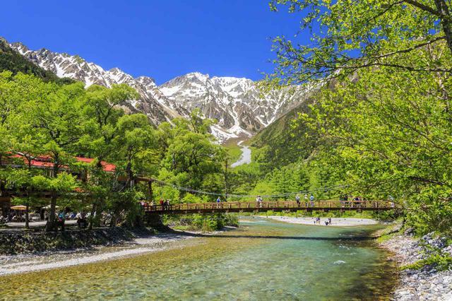 画像: 上高地を代表する河童橋の絶景