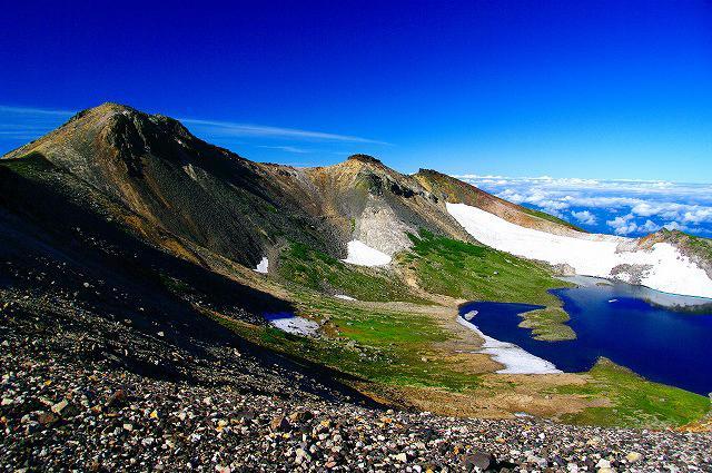 画像: 乗鞍岳山頂付近の絶景