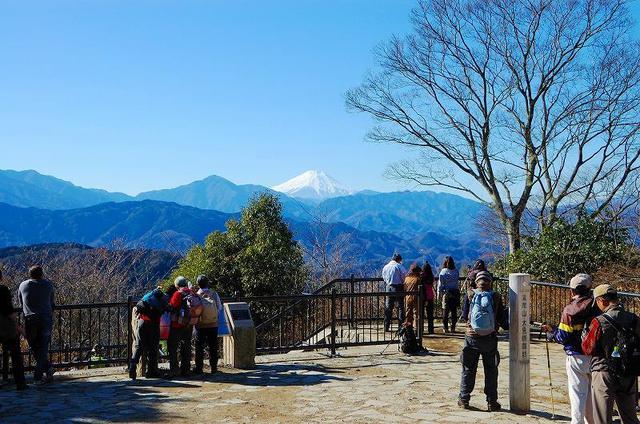 画像: 高尾山山頂から見る富士山