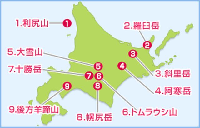 画像: ※山の番号は選定者である深田久弥氏が定めた番号を基にしています