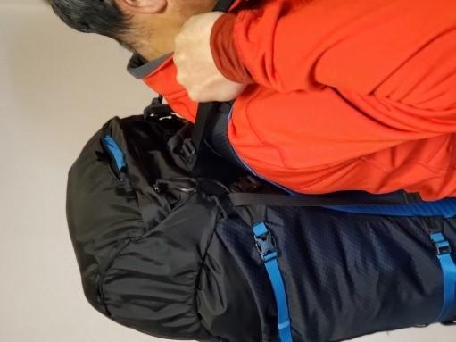 画像2: スタビライザーバンド(雨蓋の基部から肩の部分の付け根側にあるバンド)の確認