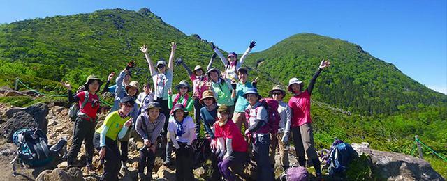 画像: 女性限定登山ツアーの様子