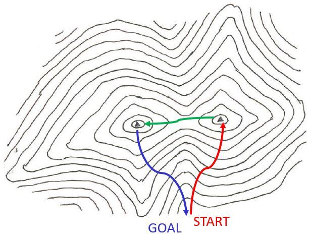 画像: 周回コースのルート地図