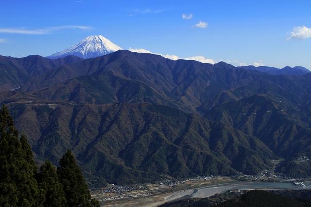 画像: 身延山からの富士山