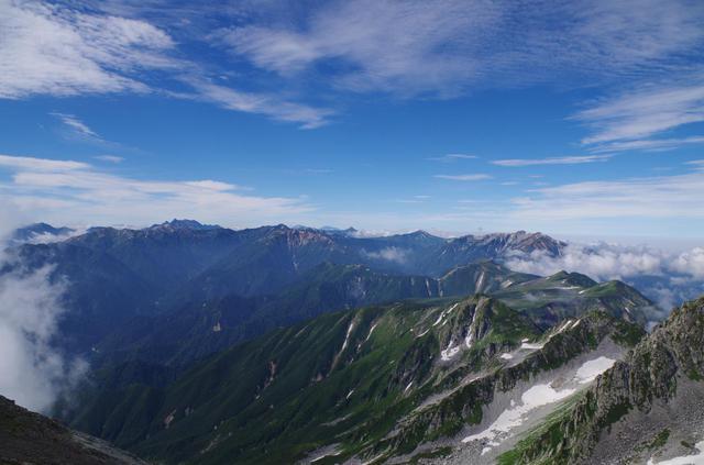 画像: 立山の雄山山頂より見える風景