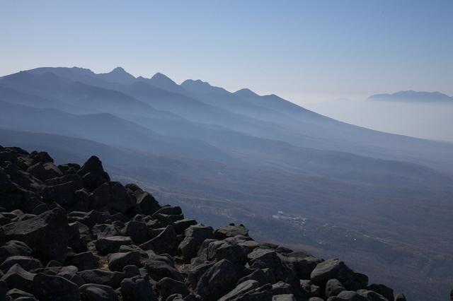 画像: 蓼科山山頂から見る八ヶ岳