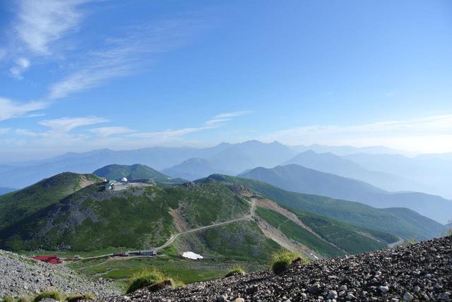 画像: 乗鞍岳・山頂直下から穂高連峰