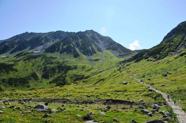 画像: 夏の立山と、登頂を目指す登山者
