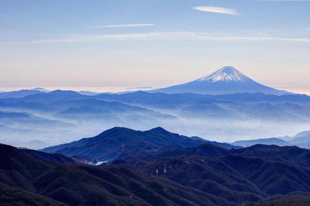 画像: 金峰山から見る富士山