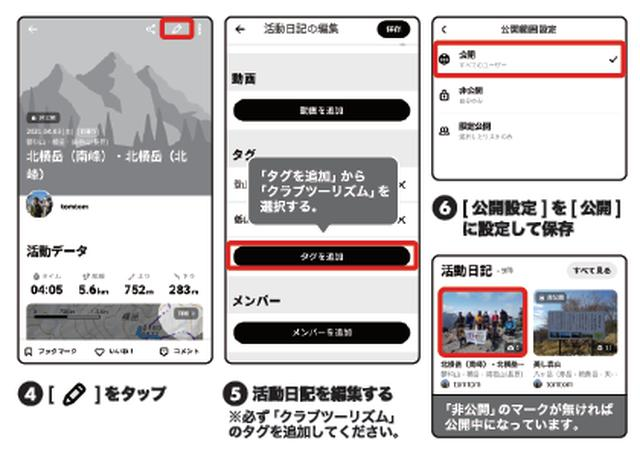 画像2: 活動日記の投稿方法
