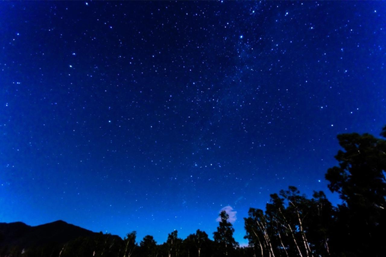 画像: 澄み切った空気の下で星空鑑賞。流れ星が見えるかも??