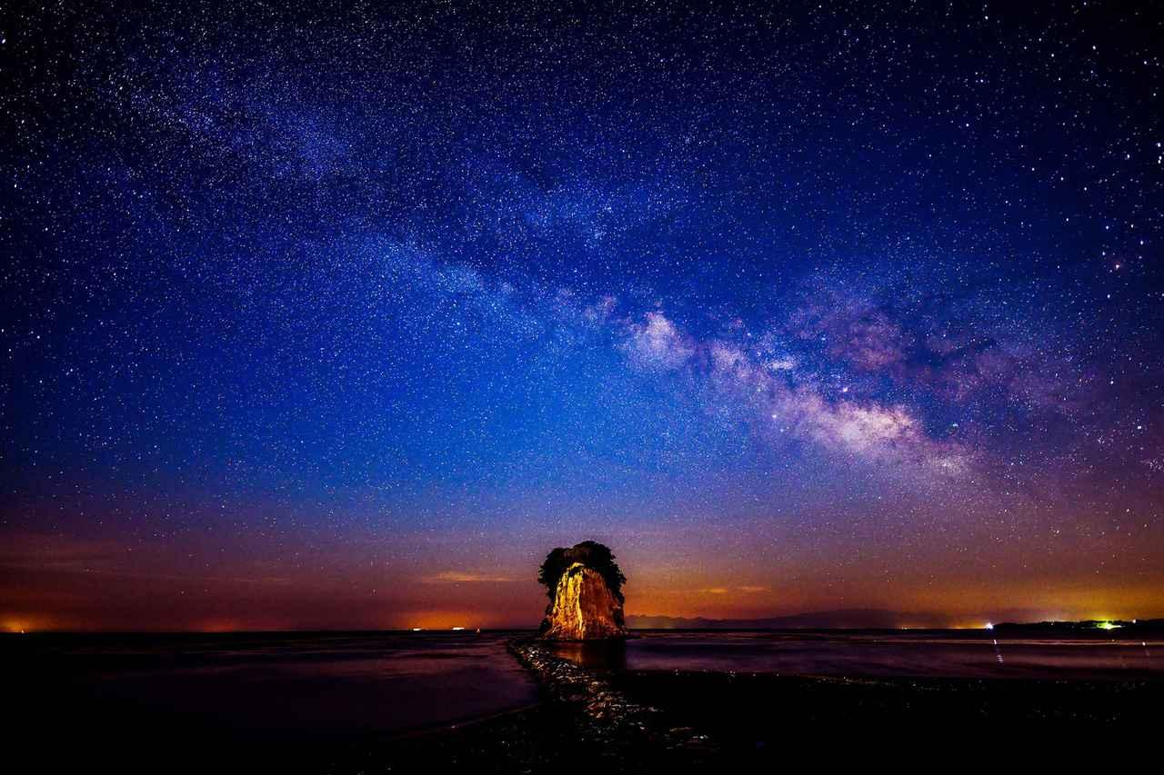 画像: 見附島の天の川