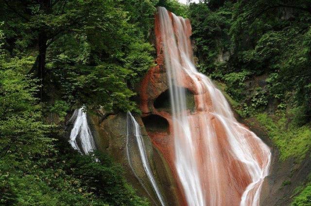 画像: チャツボミゴケ公園の紅葉 赤い岩肌美しい嫗仙の滝 2日間【名古屋駅出発】